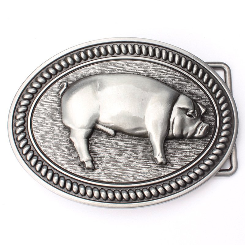 Pig Personality Cowboy Belt Buckle