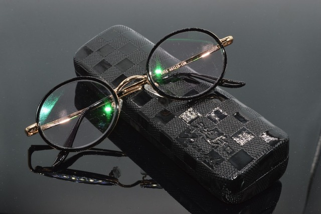 1b542d8c38f8 Gafas De Lectura Retro round golden frame 50S senator s Men Women Reading  Glasses + Case +1 +1.5 +2 +2.5 +3 +3.5 +4.0