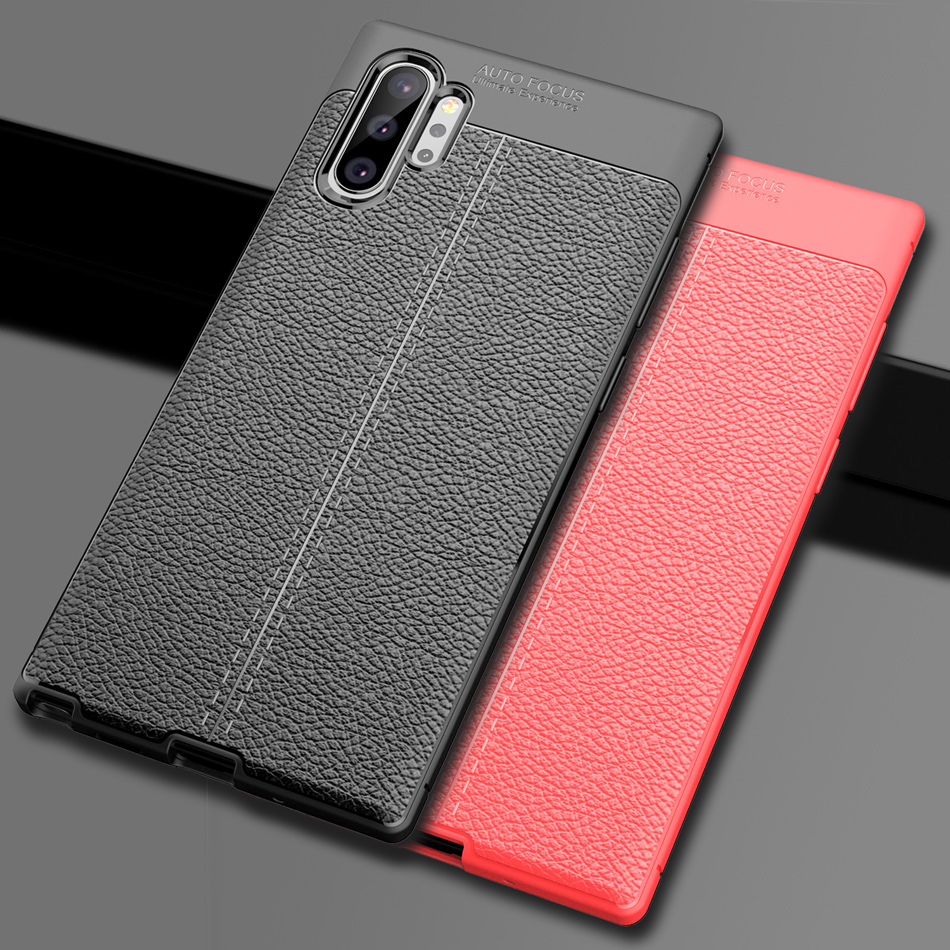 Note 10 Soft TPU bumper Case for Samsung Galaxy Note 10 case cover dermatoglyph back Cover for Galaxy Note 10 Pro Capa Fundas
