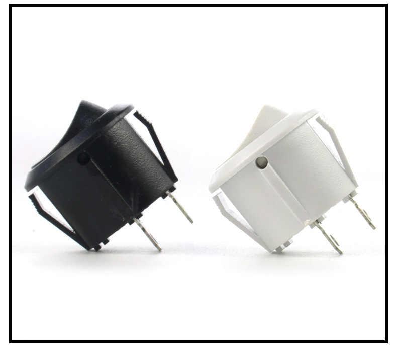 10 Stuks 16 Mm Diameter Kleine Ronde Boot Tuimel Black Mini Ronde Zwart Wit Rood 2 Pin Op- off Rocker Switch
