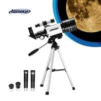 AOMEKIE Telescope 70mm Lens with Compact Tripod Finderscope for Beginner Scenery Moon Watching HD 15 140X Monocular Kids Gift