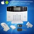 Envío gratis Inglés de Voz sistema de Alarma LCD GSM y PSTN Seguridad Para el Hogar sistema de alarma gsm Inalámbrico y alámbrico