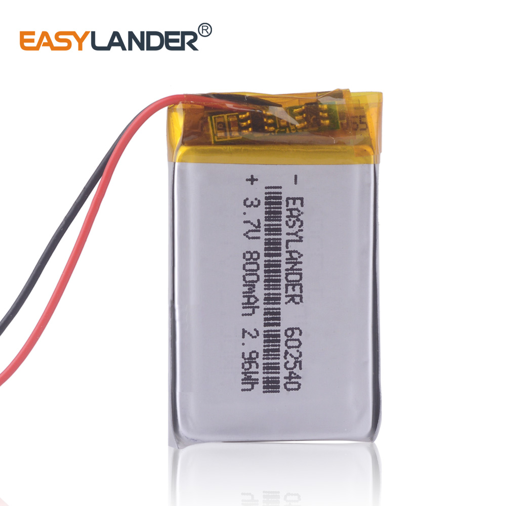 3.7V polymer lithium battery 602540 driving recorder general battery 600mAh <font><b>652540</b></font> recording pen Rechargeable Li-ion Cell image