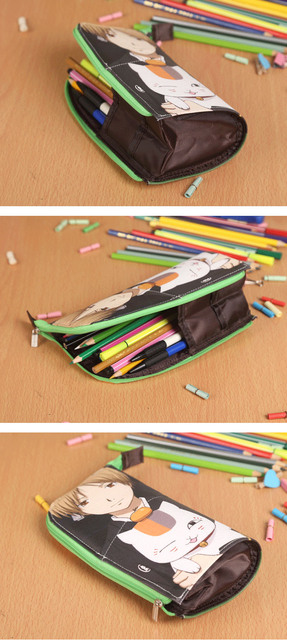 AOT Waterproof PU Stationery Pouch Pencil Case