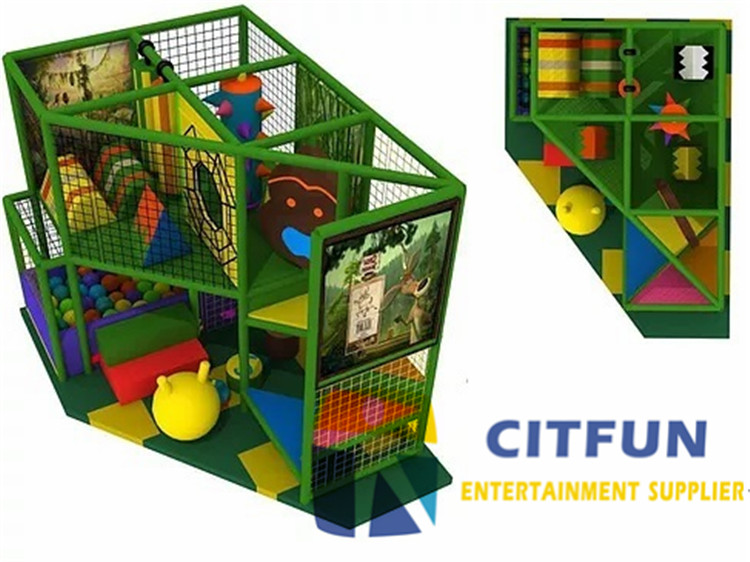 Ce certificated small indoor playground equipment for for Indoor gym equipment for preschool