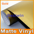 Free shipping wholesale price 30M a lot high quality light gold matte vinyl car wrap film car sticker  with bubble free BW-9012