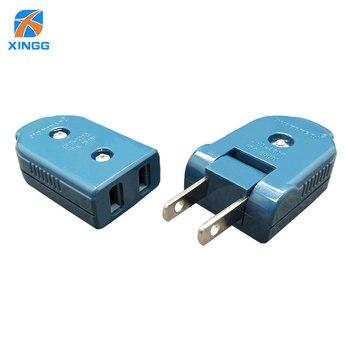 цена на Folding AC Electric Power Plug  US American Plug 2 Pin Adjustable Male Plug Female Socket Outlet Adaptor