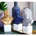 Ретро Аполлон головные портреты бюст Европейская статуя Смола ремесленник нордические украшения дома аксессуары R212