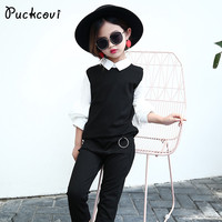 Girls Clothing Sets Kids Clothes 2017 Baby Girl Clothes Children Fashionable Set Cute Shirt Pants Twin