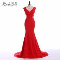 Modabelle Потрясающие Вечерние платья Красный Русалка атласная Для женщин вечерние платья спинки сексуальные элегантные дамы торжественное пл
