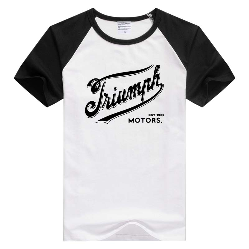 Retro Logo Triumph Vintage Motorcycles Short Sleeve Casual Men Women T-shirt Comfortable Tshirt Cool Print GA842