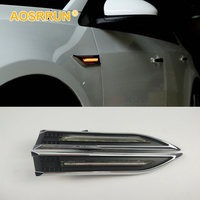 ABS Electroplated Leaf Board LED Turning Light Car Accessories For Chevrolet Cruze 2007 2008 2009 2010 2011 2012 2013 2014 2015