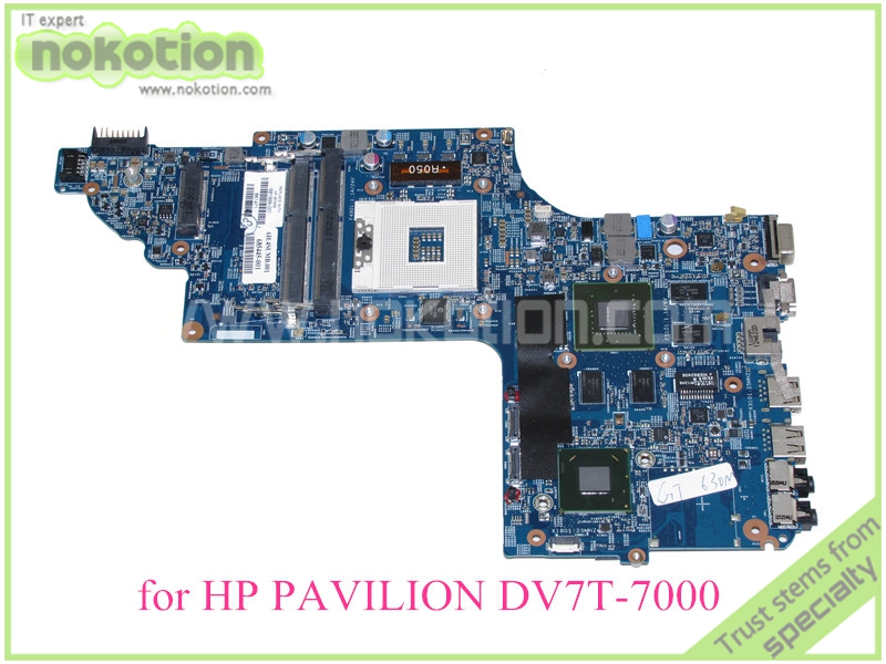 48.4ST06.021 681999-001 For hp pavilion DV7-7000 DV7T-7000 motherboard Nvidia HD4000 17.3'' ddr3 free shipping ems 48 4st10 031 681999 001 laptop motherboard for hp pavilion dv7 notebook pc