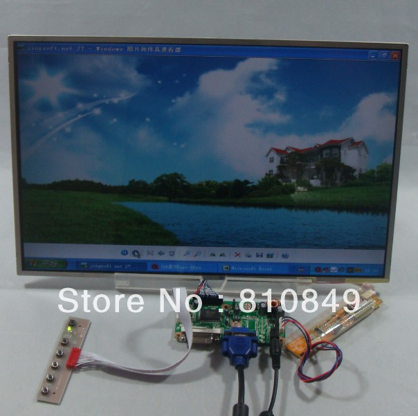 DVI+VGA Control board+17.3inch 1920*1200 B170UW01 LP171WU LTN170 LU1cd panel partners lp cd