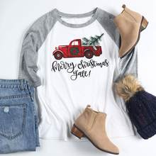 ecc49c17a VIN Beauty Fashion 2018 Plus Size Women T Shirt Merry Christmas Y'all Baseball  Tees Half Raglan Sleeve O-Neck White Casual Top