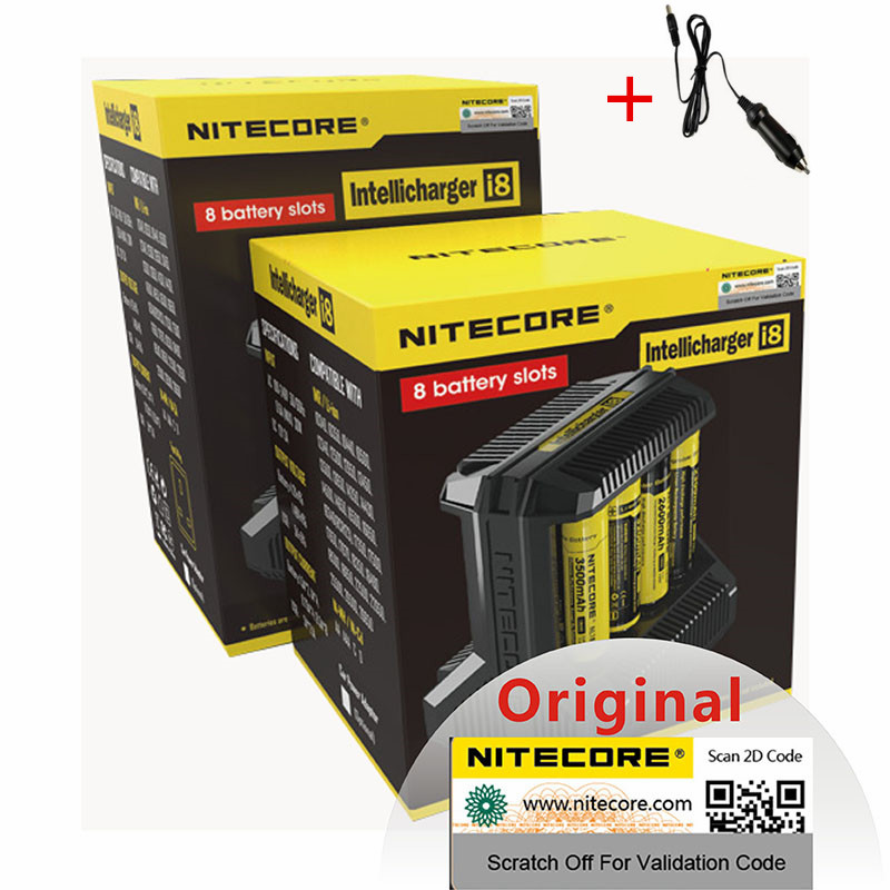 Nitecore i8 Intelligent Charger 8 Slots 4A Output Smart Battery Charge for IMR18650 16340 10440 AA