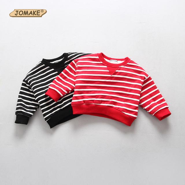 Invierno Estilo Coreano Ropa de Bebé Sudadera Classic Striped Niños Suéter Superior Ropa de Las Muchachas Muchachos Camiseta Caliente