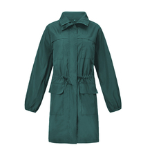 Autumn and winter new casual waterproof clothing waist long hooded jacket quality women's outdoor 6 color coats women