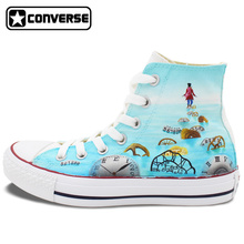 Women Men Converse All Star Alice Through the Looking Glass Alice in Wonderland 2 Custom Design Hand Painted Sneakers Gifts