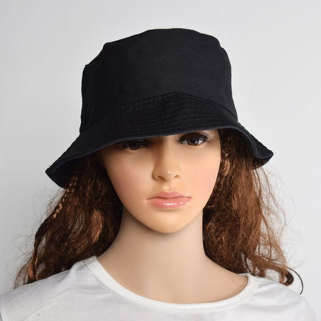 583093ae512 Black Unisex Bucket Hat Hunting Fishing Outdoor Cap Men s Women s Summer  Sun Hat-in Bucket Hats from Apparel Accessories on Aliexpress.com
