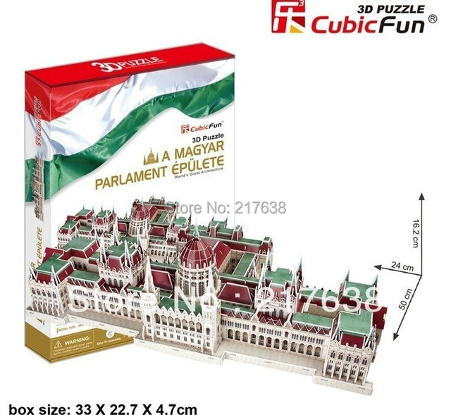 3D puzzle A MAGYAR PARLAMENT EPULETE  building model educational toy free shipping