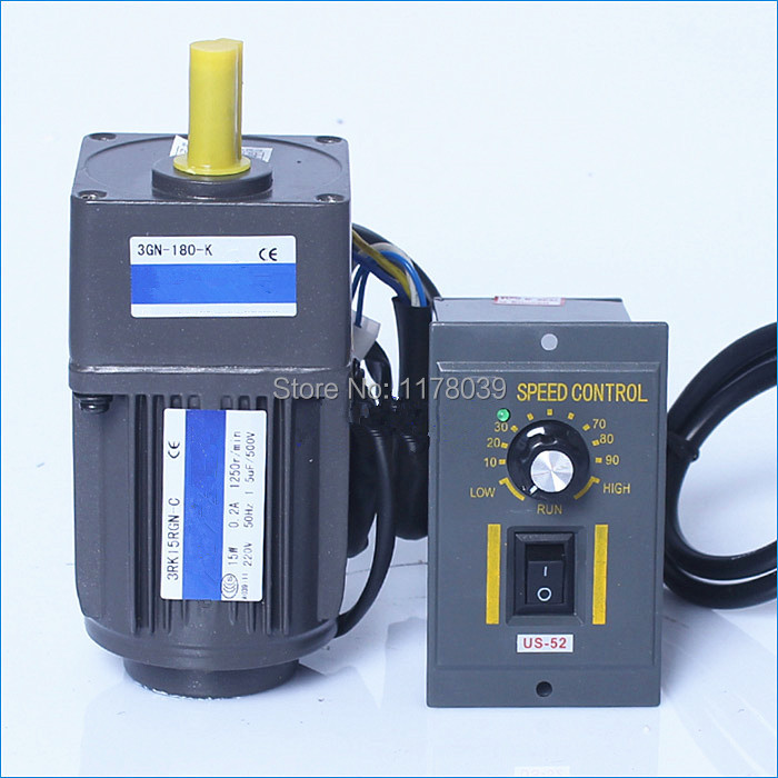 Ac geared electric motors reduction ratio 1 10 220v 15w for How to make a variable speed motor