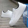 Parejas zapatos de los hombres zapatos Casuales de Cuero zapatos Planos amante del Aire Libre Pure color joker zapatos Blancos zapatos mujer calzado deportivo
