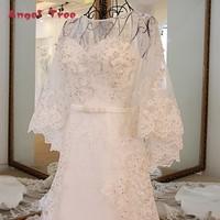 Engel Baum Preise in Euro Robe Mariage Vestido De Noiva Vintage oansatz Lace Up Zurück A Line mit Jacke Spitze Hochzeitskleid strand