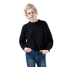 Toyouth Autumn Winter Women Sweaters and Pullovers Korean Style Long Sleeve Casual Crop Sweater Solid Knitted Jumpers Sweaters(China)
