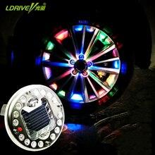 4Pcs/lot Hor Sales 16LED Car Auto Solar Energy Flash Wheel Tire Light Valve Stem Cap Light Warning Lamp Air Dust Caps Decoration