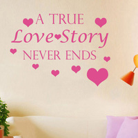 Quotes Wall Decal A True Love Story Decal Bedroom Home Decor Heart Vinyl