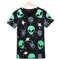 Uwback camisa mujeres harajuku estilo de alien alien 2017 nuevo verano de las mujeres camiseta del verano más el tamaño de las mujeres del verano tops tb962