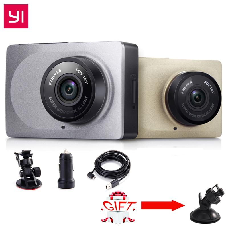 Yi dashcamera dvr edição internacional wifi 165 graus 1080 p 60fps 2.7 Polegada filmadora para android & ios dashcamera inteligente
