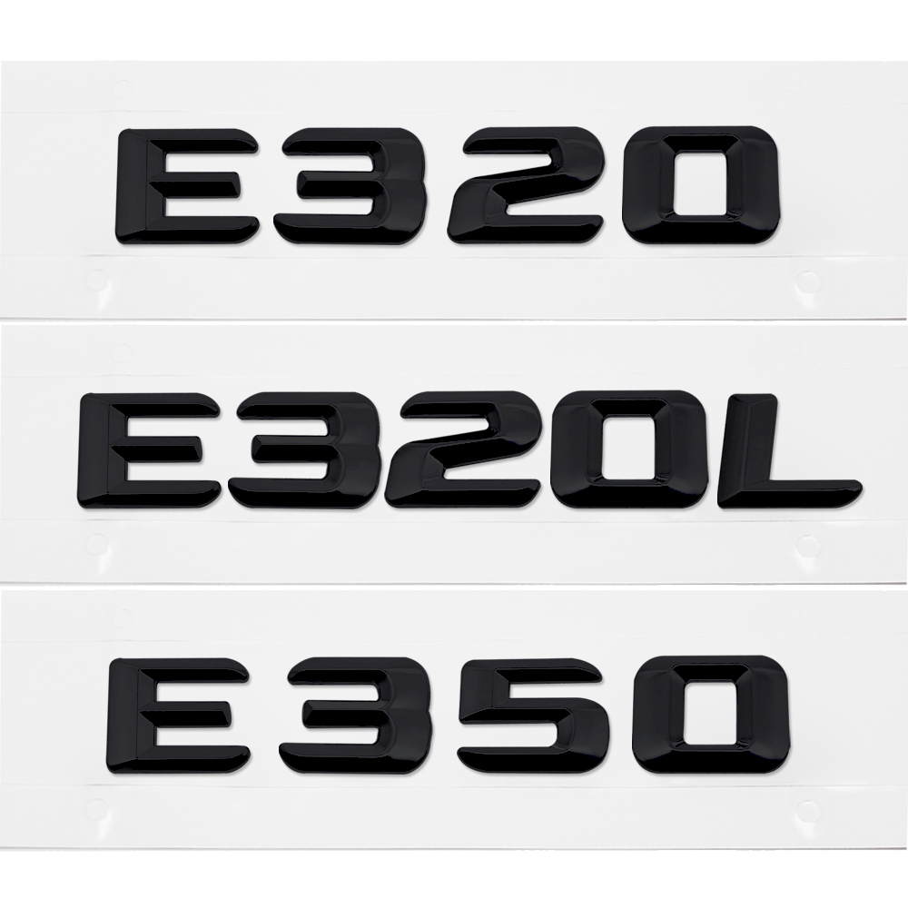 Car Rear Sticker Number Letter Emblem Badge Accessories For Mercedes Benz E Class E320 E320L E350 GLE320 W211 W207 W164 W251 car styling for mercedes benz g series w460 w461 w463 g230 g300 g350 chrome number letters rear trunk emblem badge sticker