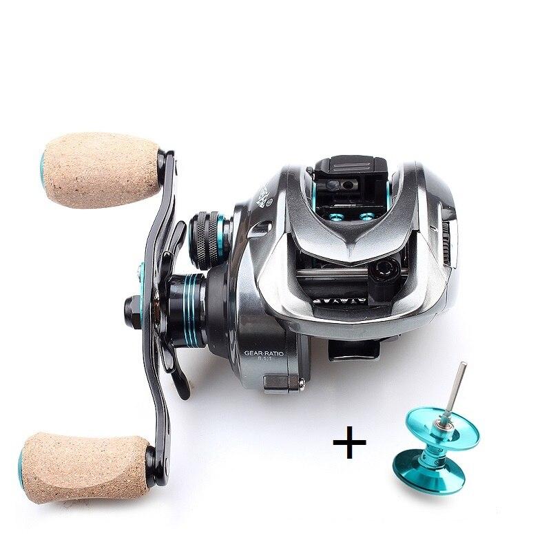 Kawa Fishing Reel New Model Double Aluminum Spools Magnetic Brake Cork Knob Bearing 11 1 Max