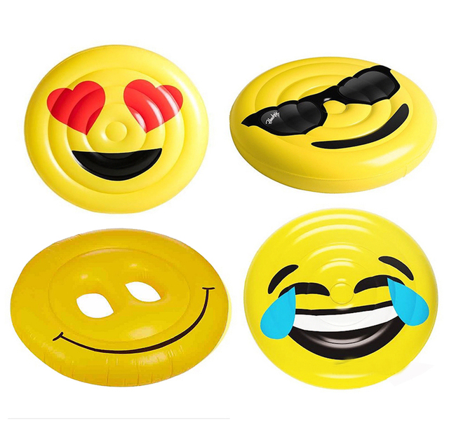 aufblasbare ausdruck smiley l cheln gesicht spa insel swimming pool wasser float 63 beach. Black Bedroom Furniture Sets. Home Design Ideas
