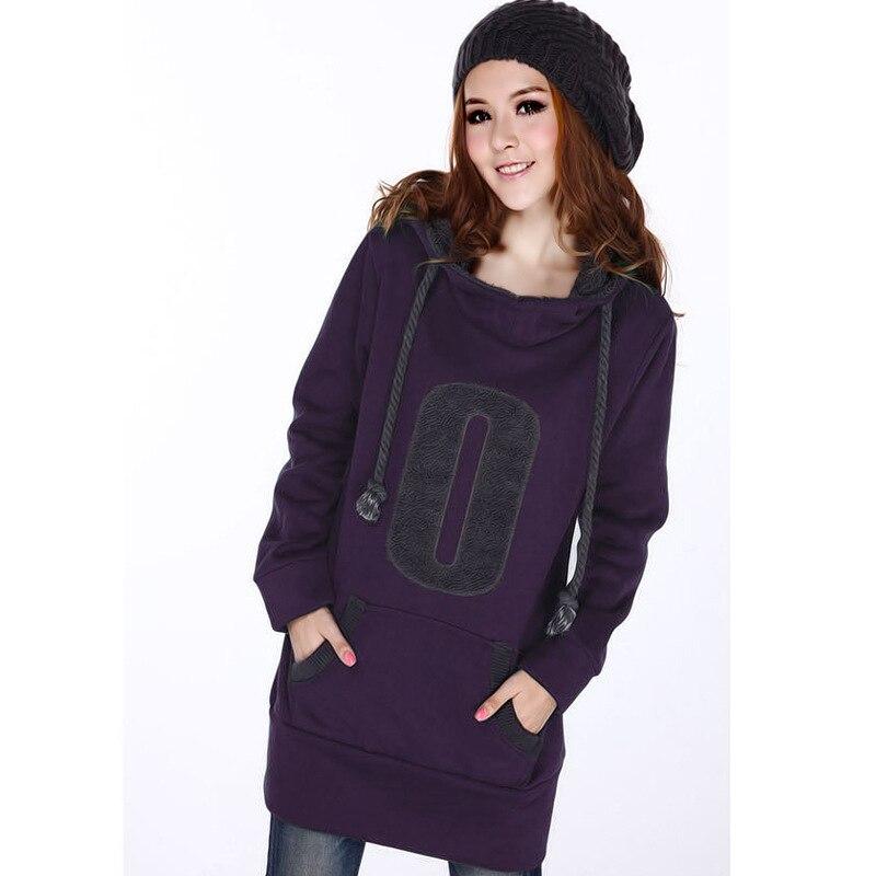 28fef11a321e4 Autumn Winter Coat Women Women Casual Long Sleeve Thick Plus Velvet Hoodie  Plus Size Hoody Wear Hoodies Sweatshirt SS003-in Hoodies   Sweatshirts from  ...