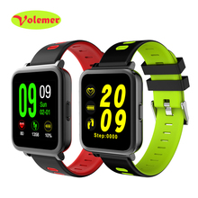 Volemer D10 Смарт-часы MTK2502 синхронизации Notifier bluetooth музыку SmartWatch шагомер сердечного ритма сна Мониторы inteligente Reloj