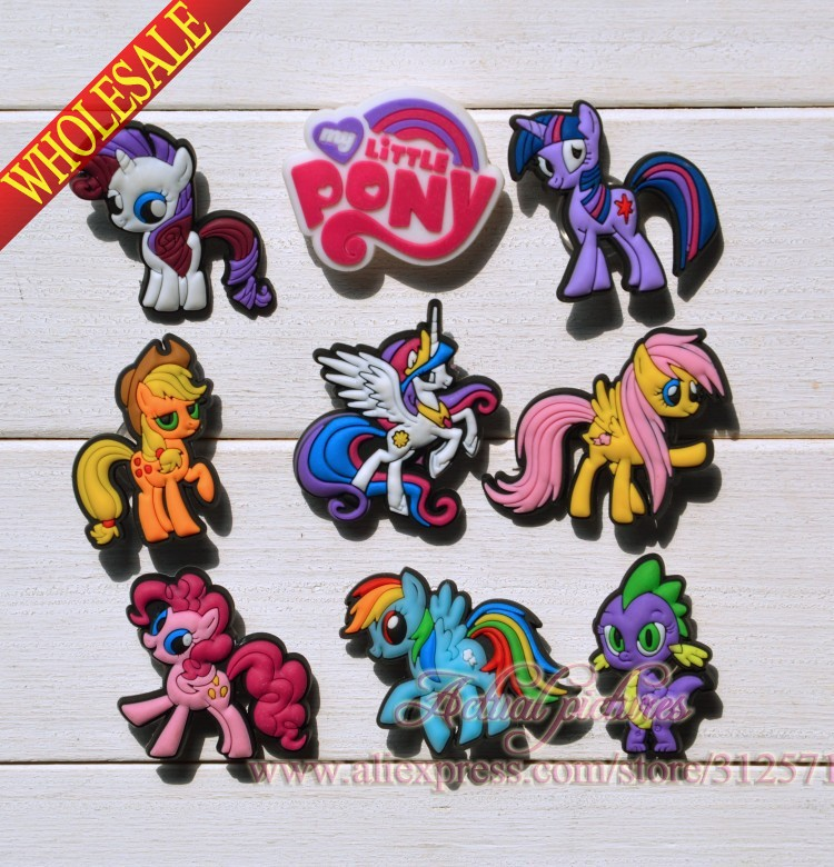 2014 New Arrival,100 pcs/lot Little Horse  pvc  shoe accessories,PVC shoe decoration  for shoes/ Wristbands,Kids favor gifts les petites свитер