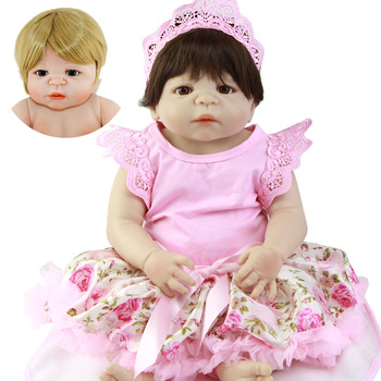 23Inch Fashion Bebe Reborn Alive Girl Doll Full Body Silicone Realistic Princess Baby Doll lol For Kids Xmas Gifts
