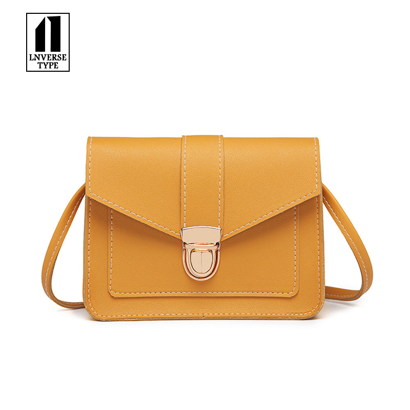 Women Shoulder Square Handbags Solid Leather Crossbody <font><b>Bag</b></font> Messenger Satchel <font><b>Bags</b></font> 2018 New Design Travel Small Phone Pouch Cluch image
