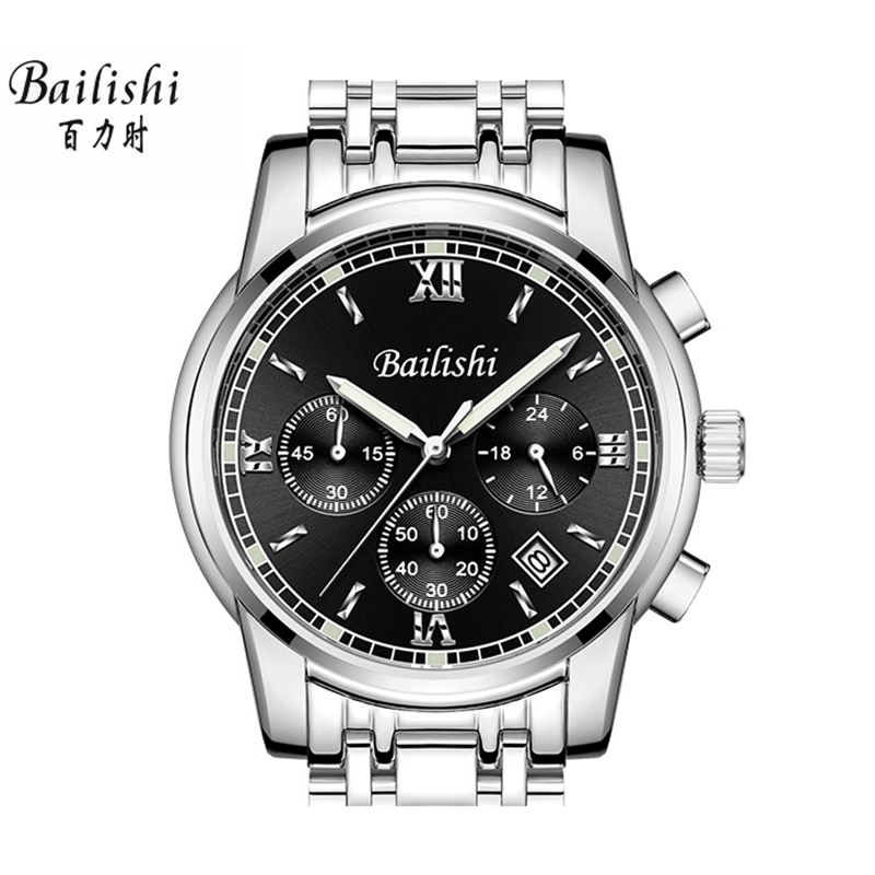 BAILISHI Brand Luxury Men Digital Sport Watch Men's Quartz Analog Clock Male Watch Stainless Steel causal Male Wristwatch bailishi casual quartz watch diamonds hour stainless steel wrist watch male clock brand luxury men wristwatch 30m waterproof