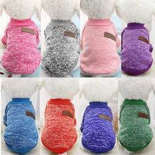 Купить с кэшбэком Dog Clothes Ten Colors Classic Fashion Wool Sweater Dog And Cat Autumn And Winter Sweet Fleece Clothing New Style Free Shipping
