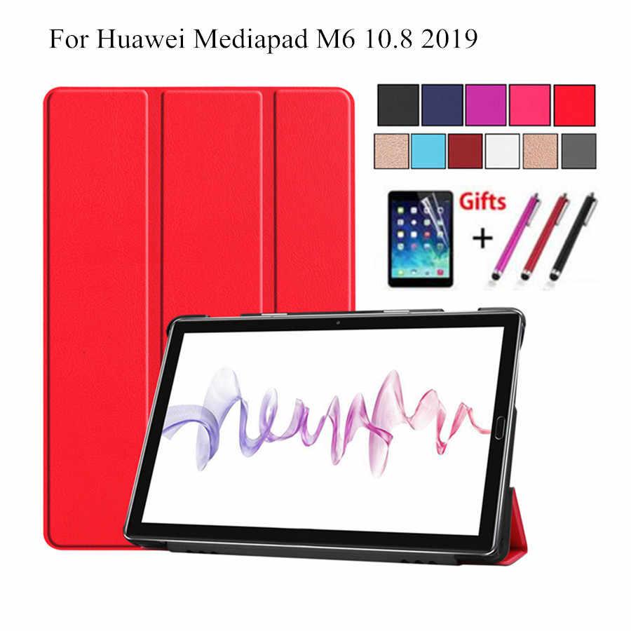 """حافظة لهاتف Huawei mediapad M6 10.8 فليب غطاء لهواوي mediapad M6 10.8 """"(برو) 2019 فوندا اللوحي الصلب عودة PC الجلد حامل شل"""