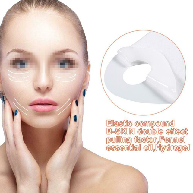 Miracle V-Shaped Lifting Neck Mask Eliminate Edema Firming Thin Slimming Facial Peel-off Mask Silicone Mask Skin Care TSLM1 2