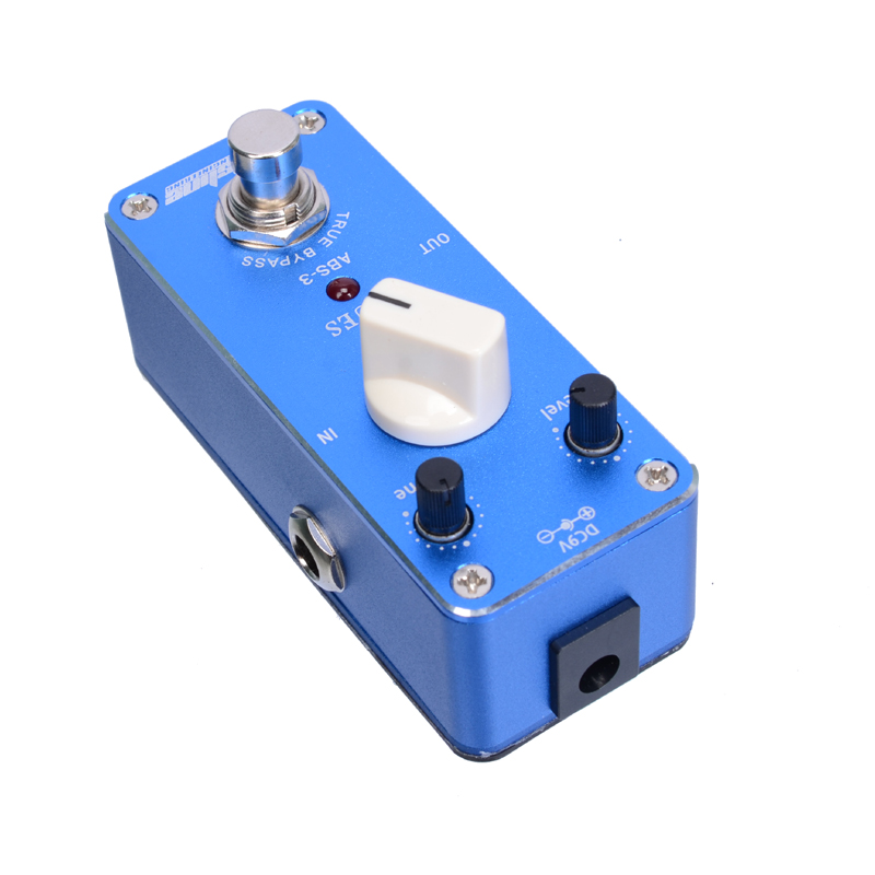 Арома ABS-3 Блюз Мини гитарный эффект педаль truebunpass усиление тон уровень Регулируемый+ Бесплатный разъем