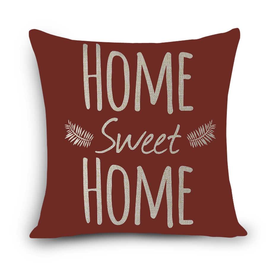 ヨーロッパの家の装飾枕品質で印刷色の単語、上質のリネン綿ソファクッション 45x45 センチメートル枕 MYJ-G8