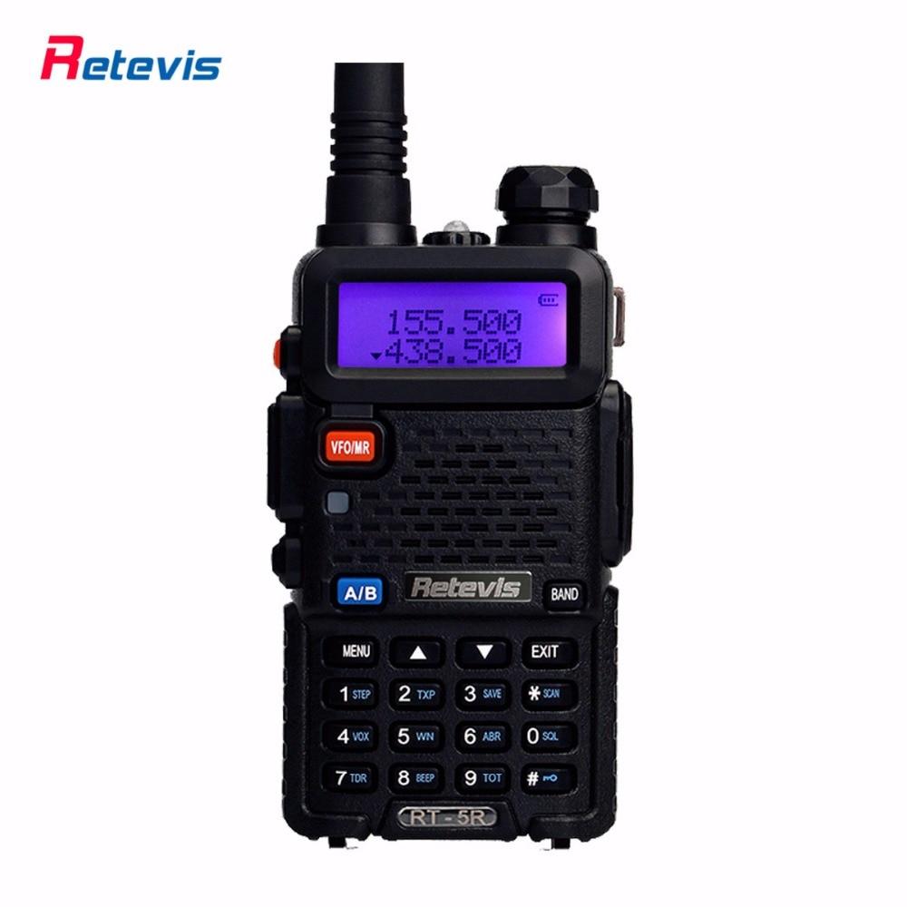 Handy Walkie Talkie Retevis RT 5R 5W VHF UHF 136 174 400 520MHz VOX FM Radio