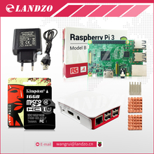 H Raspberry Pi 3 Модель B стартовый набор-Pi 3 доска/pi 3 Чехол/Европейский источника питания/16 г карты памяти/теплоотвод