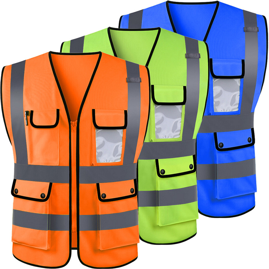 High Visibility Hi Vis Safety Vest Reflective Driving Jacket Worker Night Security Waistcoat Set With Pockets For Work Run Jackets Aliexpress